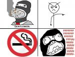 spy smoke cigarette